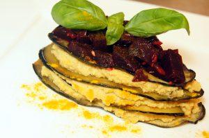 Auberginen-Lasagne mit Kichererbsencreme